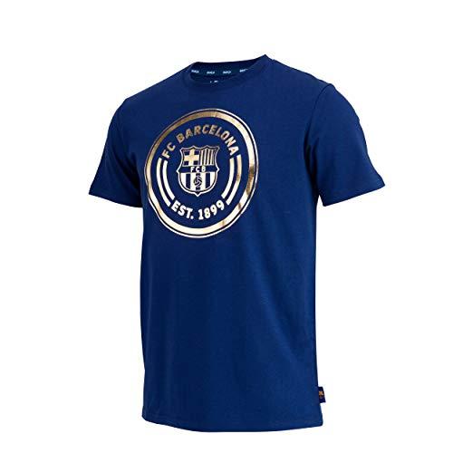 Fc Barcelone Camiseta de algodón Barca - Colección Oficial Talla de Hombre