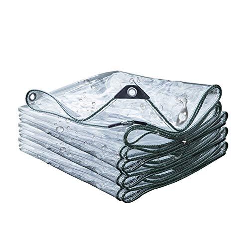 ALGFree Claro Lona de Protección, Tarea Pesada Impermeable Impermeable a Prueba de Polvo Lonas De Carpa, con Ojales Personalizable (Color : Clear, Size : 1x5m)