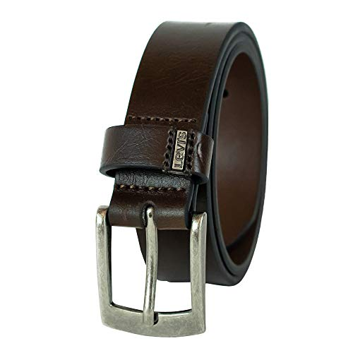 Levi's Big Boys Levi's Boys Casual Belt With Double Belt Loop, Brown, S