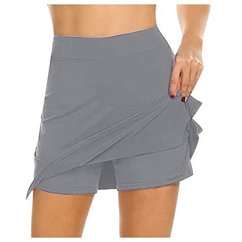 HCOO Aktivrock Mit Taschen Damen Skort Slimbelle Leggings Leggins Cellulite Radhose Gepolstert Short Leggings Shorts Damen Sport Leggings Butt Lift Leggings