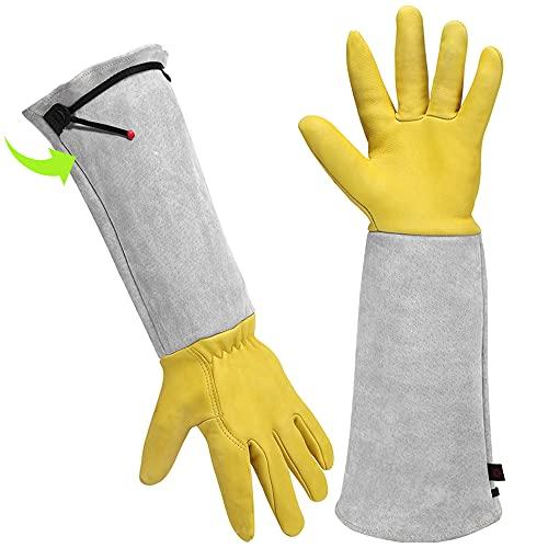 Photo of Gardening Gloves Gardening Gifts for Women/ Men – Heavy Duty Gardening Gloves Thorn Proof, Rose Pruning Gloves Gardening Tools Mens Ladies Gardening Gifts Long Gardening Gloves Leather Gauntlet Gloves