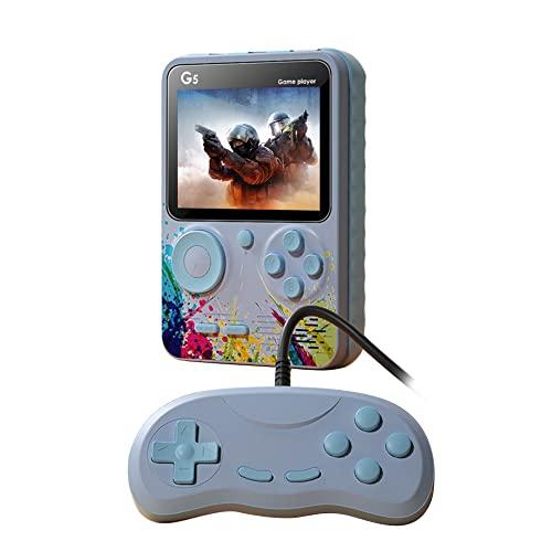 A/A ENOUK G5 Consola de juegos de mano Clásico Retro 2 Jugadores Bolsillo Video Gaming Machine incorporado 500 Juegos para niños