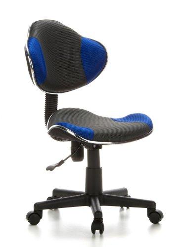 hjh OFFICE 633000 Kinderdrehstuhl Bürostuhl KIDDY GTI-2 grau blau, Kinderdrehstuhl für Schulanfänger, ergonomischer Kinderschreibtischstuhl, Kinderbürostuhl höhenverstellbar, Jugendstuhl