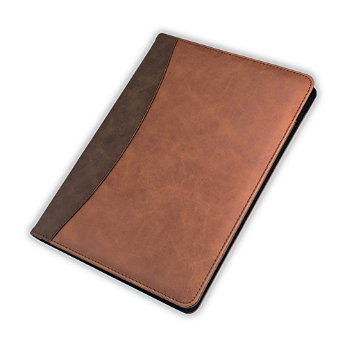 Samsill 71756 Two-Tone Padfolio BWN Tan, Letter Size, Brown Black