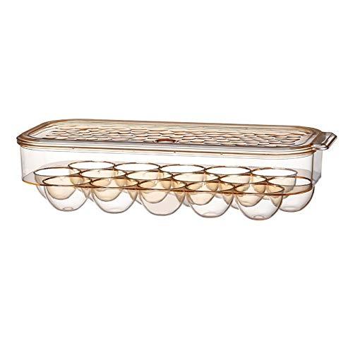 Titular de la bandeja de huevo Caja de almacenamiento de huevos Refrigerador Crisper Almacenamiento Contenedor Camping picnic BBQ A prueba de golpes Huevo Holder Box Organización