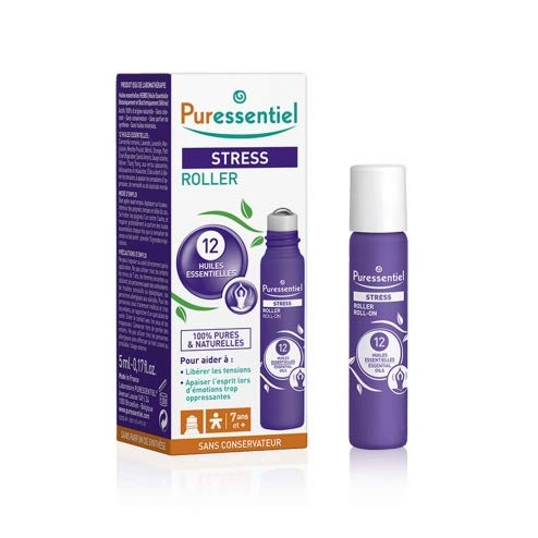 Puressentiel Stress Roll-On, 5 ml - Stress & Tension Relief rollerball - Nervousness feelings - Soothing, calming , relaxing pure and natural essential oils - Aromatherapy