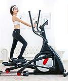 YQ&TL Bicicleta Elíptica de Fitness Elíptica Equipo Comercial de Fitness Interior silencioso controlado magnéticamente Tiempo, calorías, Velocidad, frecuencia cardíaca, Distancia Peso 130 kg