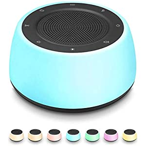 White Noise Machine for Sleeping Baby Adults Kids, 16 Soothing & Therapy Sounds for Sleep Machine with Night Light, Noise Maker with Timer & Memory Fuction for Home, Bedroom, Office Privacy, Plug in