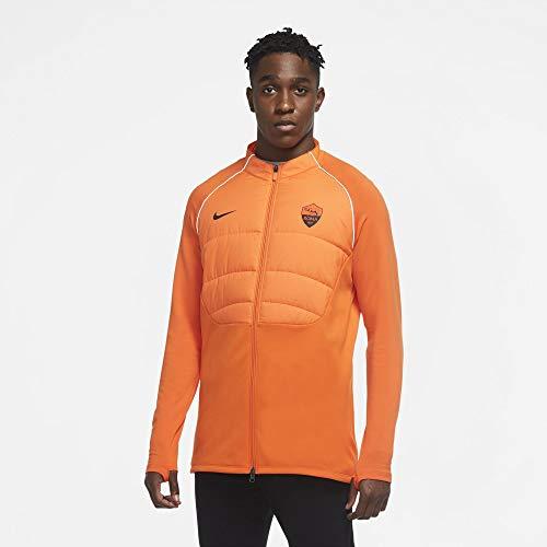 Nike AS Roma Trainings-Sweatshirt, gepolstert, neonorange, 2020-21 (L)