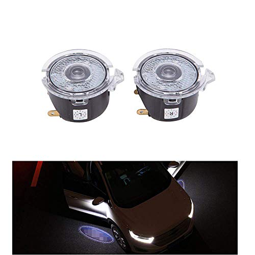Car Door LED Logo Puddle Light Side Mirror Projector Ghost Shadow Lights Courtesy Step Welcome Ground Lights Works with Ford Series - 1 Pair