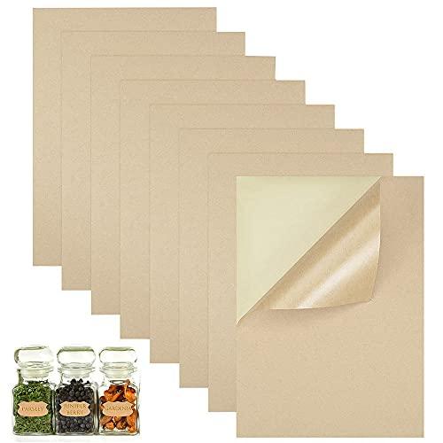 50 Piezas Autoadhesiva Copia Papel, Kraft Autoadhesivo A4, Papel Para Impresión Adhesiva, Adhesión Fuerte, Utilizada Para...