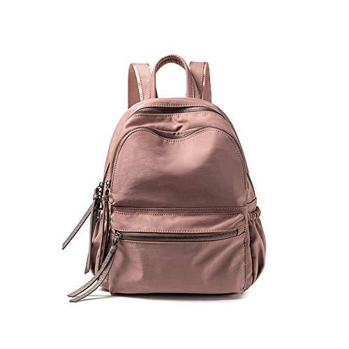 Lightweight Waterproof Travel Backpack Womens,Phone Sustainable Oxford Small Casual Daypack,Fashion Leisure Backpack-Pink 25x12.5x31cm(10x5x12inch)