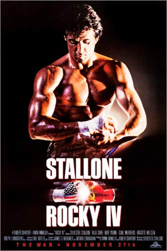 Poster 61 x 91 cm: Rocky IV von Entertainment Collection - hochwertiger Kunstdruck, neues Kunstposter