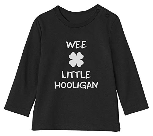 Green Turtle St Patrick Wee Little Hooligan Irish Funny T-Shirt Bébé Unisex Manches Longues 18-24M 89/93cm Noir
