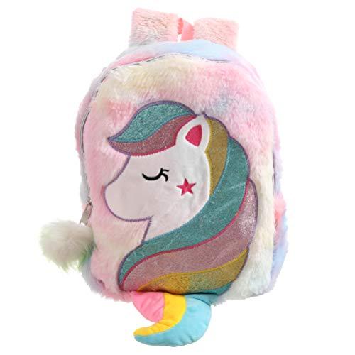 VALICLUD Mochila de unicornio para niñas, de piel sintética, para niños, Rosa (Rosa) - 1101X59BVL