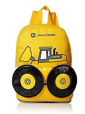 "John Deere Boys' Tractor Toddler Backpack (13"", Yellow)"