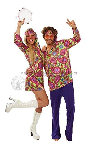 Rubie's Costume Ufficiale da Donna Hippie Anni '70, per Adulti, Taglia L