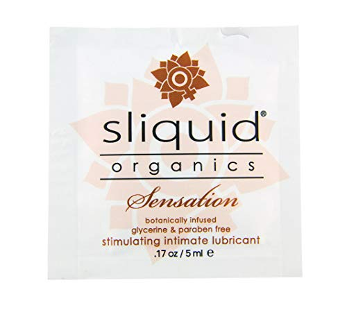 Sliquid Organics Sensation - 200 Count Case - .17 Oz./ 5ml Foils