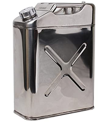 allentian Stainless Steel Water Can 5Gallon 20L, 8Gallon 30L, 10Gallon 40L Portable- Water Storage for Camping
