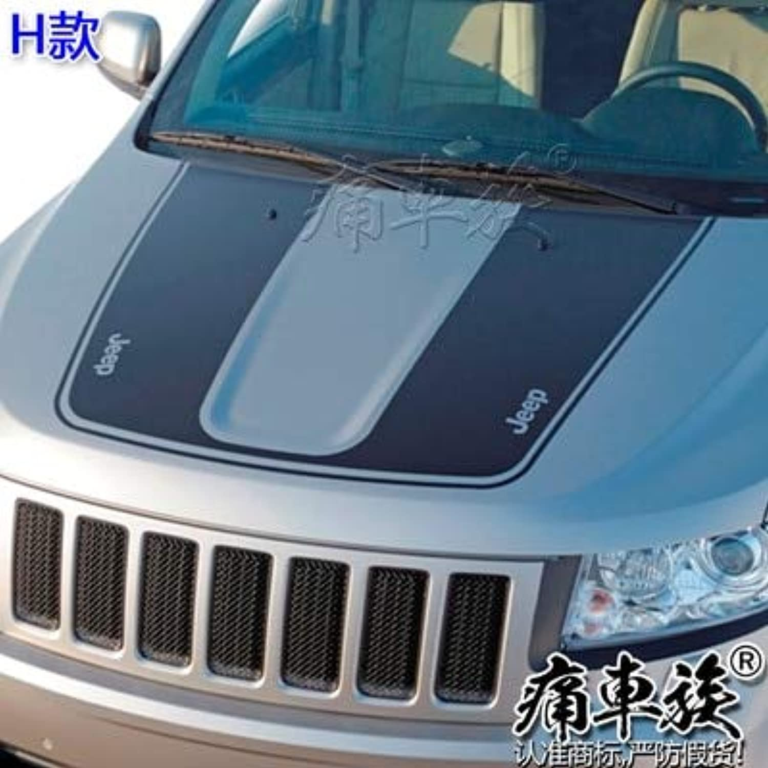 Head Car Stickers Car-Styling Decoration for Jeep Grand Cherokee Front Engine Cover Special Stickers(color Name  H)