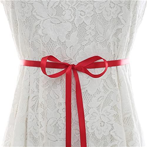 Cinturón de novia de diamantes de imitación, cinturón de novia de cristal dorado, cinturón de boda de diamantes para mujer, vestido de noche, rojo vino, talla única