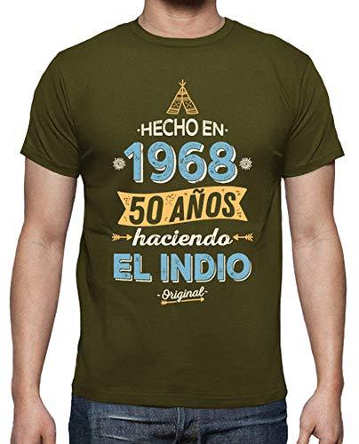 latostadora - Camiseta 1968 50 Aos Haciendo para Hombre Army M