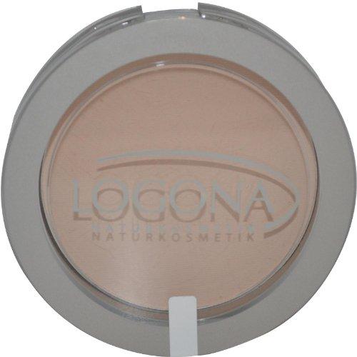 Logona - Poudre compacte n01 beige sable - Boîtier à miroir 10 g