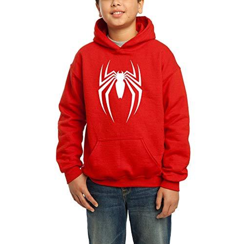 Desconocido Uniforme Hombre araña - Sudadera con Capucha para niños (10 años, Rojo)
