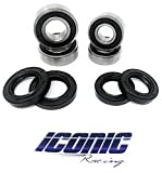 Iconic Racing Both Front Wheel Bearing and Seal Kits Compatible with 02-14 Honda TRX 400EX TRX 400X TRX 450R TRX 450ER