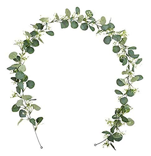 SUCICI Artificial Eucalyptus Wreath Wall/Background/Wedding/Flower/Table Flag/Decoration Wreath Ivy - Ceremonial Decoration Artificial Leaves and Vine Ivy Wreath