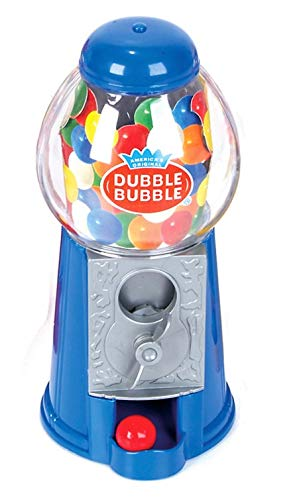 BLUE  7quot Colorful Classic Gumball Machine Coin Bank with Dubble Bubble Gum Included Candy Gum Dispenser BLUE