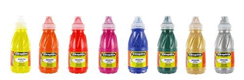 Cleopatre - PGN250X8B - Pack de 8 frascos de pintura guache, colores secundarios, 250 ml