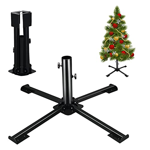 """LadyCare Christmas Tree Stand for Artificial Trees, Folding Christmas Tree Stand Base for Artificial Xmas Trees 4 to 8FT and 1.4"""" Pole"""
