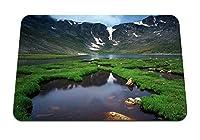 22cmx18cm マウスパッド (山湖草水泥だらけ) パターンカスタムの マウスパッド