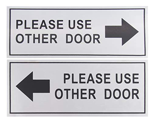 Behindertenparkschild – Reserved Parking, No Parking on Reserved Space Warnung, rostfreies Aluminium 2 Pack Please Use Other Door