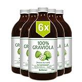 6 x 100% ZUMO DE GUANÁBANA - sin filtrar y vegano (6 x 500 ml), hecho de puré de graviola al 100%. Compra ventaja. Graviola. Soursop. Corossol. Stachelannone.