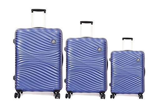 American Tourister Polypropylene Small - 55 cm, Medium - 68 cm & Large - 79 cm Hard Trolley Bag (Set of 3) (ZKK-ALL_Coral Blue)