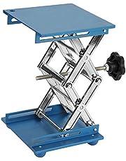 Plataforma Lab, Akozon 5.9x5.9'' Scientific Lab Laboratory Scissor Jack, Plataforma de elevación de laboratorio de acero inoxidable Stand Rack Scissor Lab-Lift Lifter