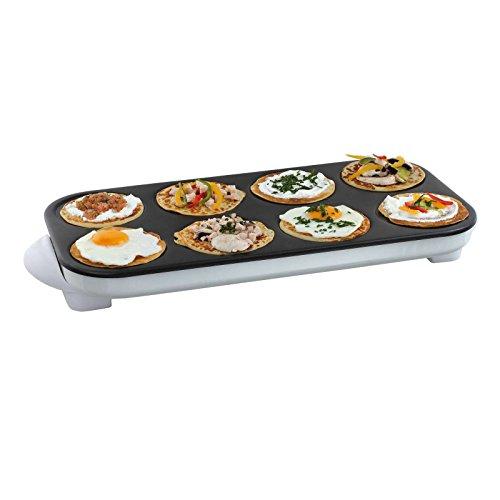 Appareil à crêpes, pour 8 mini crêpes, avec revêtement anti-adhésif, câble amovible, poignée de transport, 1500 W