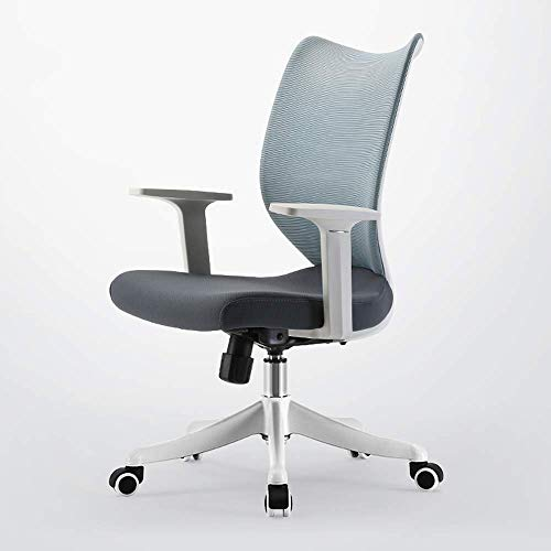 N/Z Home Equipment Ergonomic High Back Mesh Office Chair with Armrest Lumbar Support Swivel Task Desk Chair Computer Chair Guest Chairs Reception Chairs (Color : Gray)