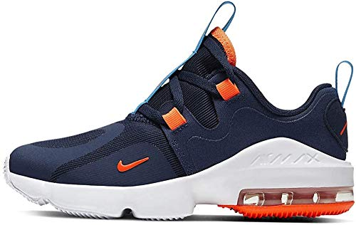 Nike Air MAX Infinity, Running Shoe para Niños, Azul Marino Medianoche/Hyper Crimson/Laser Blue, 33 EU