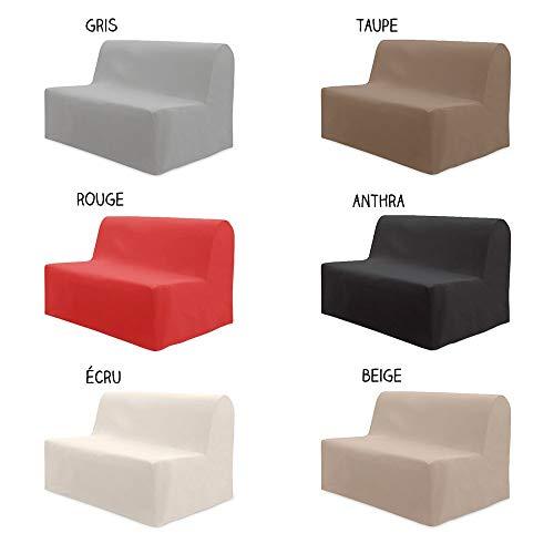 dkdo Housse pour canapé BZ - 140 x 204 cm - Différents Coloris - Rouge