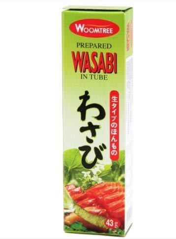 Woomtree Vorbereitetes Wasabi in Tube, 43 g, hat eine frische Textur von echtem Wasabi und ist einfach zu verwenden.