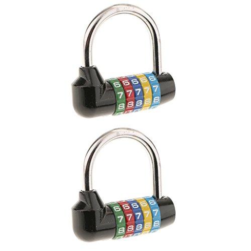 IPOTCH Lucchetto Ripristinabile con Combinazione a 2 Pezzi per Valigia Case Toolbox
