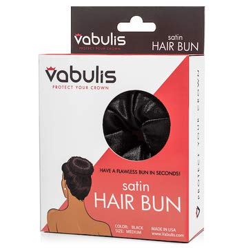 Satin Hair Bun – Retains Moisture, Protects Ends & Reduces Frizz Better than Traditional Hair Sponge or Sock Buns | Craft Beautiful Looks in Seconds | Fits Any Age Person or Any Length of Hair Medium