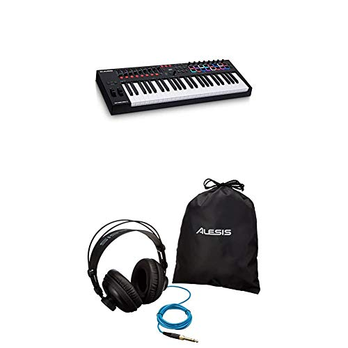 M-Audio Keyboard Controller + Alesis Kopfhörer Bundle – Oxygen Pro 49-Tasten USB MIDI Keyboard Controller mit enthaltenem Softwarepaket + Alesis SRP 100-40mm Studio Referenz-Kopfhörer