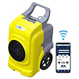 AlorAir Storm Elite Smart WiFi Dehumidifier, 125 PPD Commercial Dehumidifier with Pump, Roto-Mold Body, LCD Display, cETL, 5 Years Warranty, Industrial dehumidifier for Disaster Restoration, Yellow