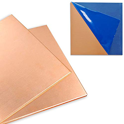 6 x 6 Solid Copper Sheet Metal 4 pieces 16 ounce 24 gauge pure jewelry grade arts crafts
