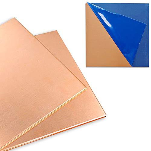 2 Pcs 99.9%+ Pure Copper Sheet, 6