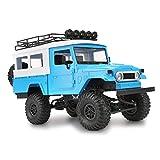WGFGXQ Voiture télécommandée RC Voiture de Course électrique Voiture de Cascade 2.4G 4WD Voiture télécommandée RC Voiture sur chenilles Tout-Terrain garçon Fille (Bleu)
